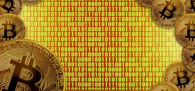 bitcoin-display-mining